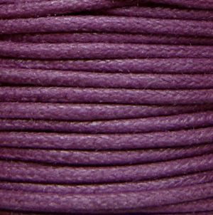 1.5mm Waxed Cotton Cord Dark Purple - 5 Metres
