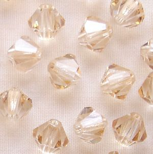 6mm Preciosa Crystal Bicone Crystal Honey - 20