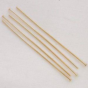"Gold Plated 2"" (50mm) Headpin - 50"