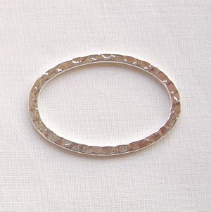 Silver Plated Hoops 30 x 20mm Oval - 8