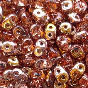 Superduo Beads Rosaline Capri Gold - 10 grams