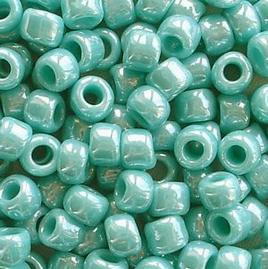 Toho 6/0 Seed Beads Opaque Lustred Turquoise 132 - 10 grams