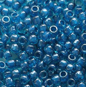 Toho 8/0 Seed Beads Aqua Capri Lined 932 - 10 grams